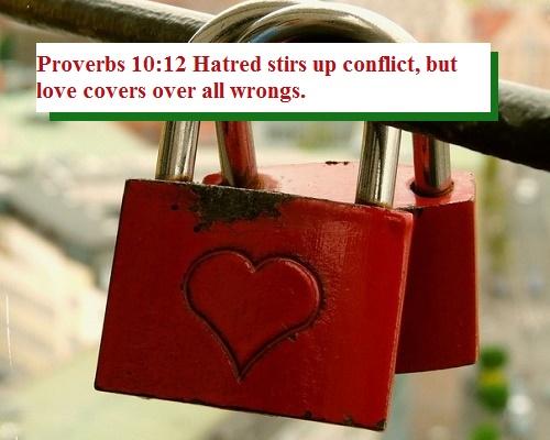 Proverbs 10 12b