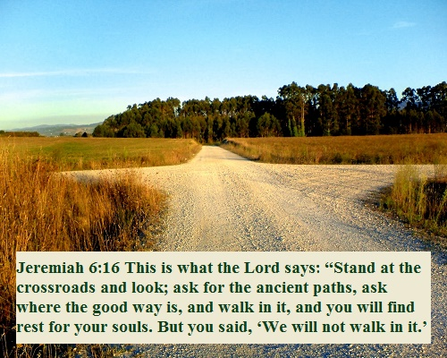 Image result for image of Jeremiah 6:16
