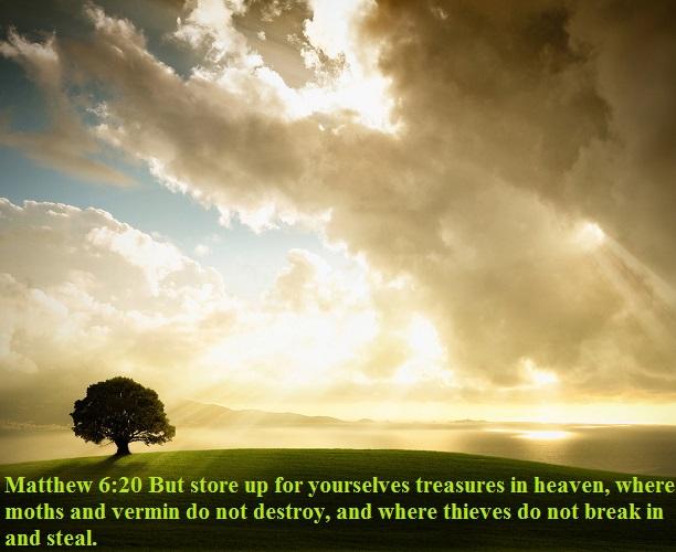 Matthew 6 20