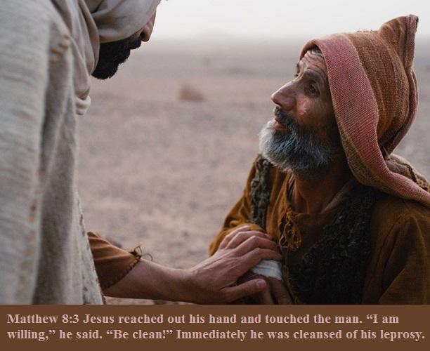 Matthew 8 3
