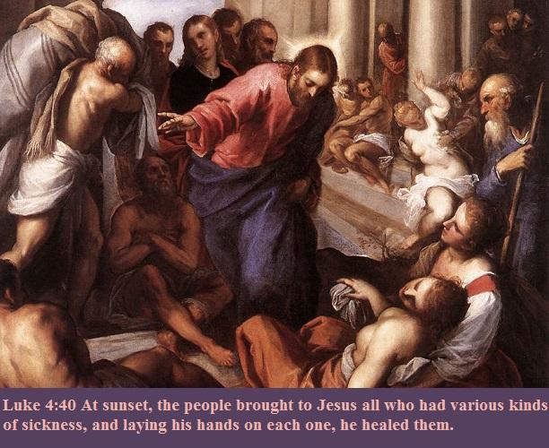 Luke 4 40